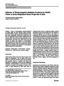 Influence of Electromagnetic Radiation Produced by ...