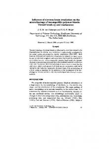 Influence of electron beam irradiation on the microrheology of