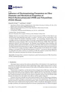 Influence of Electrospinning Parameters on Fiber Diameter and ...
