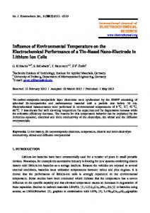 Influence of Environmental Temperature on the Electrochemical ...