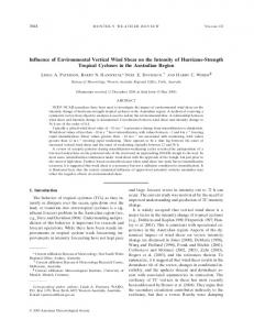 Influence of Environmental Vertical Wind Shear on the ... - AMS Journals