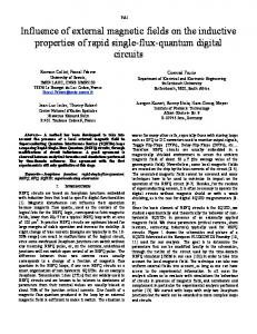 Influence of external magnetic fields on the inductive ...