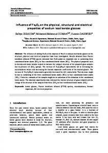 Influence of Fe2O3on the physical, structural and electrical properties ...