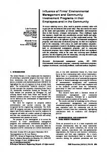Influence of Firms' Environmental Management and Community ...