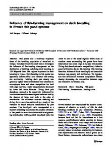 Influence of fish-farming management on duck ... - Springer Link