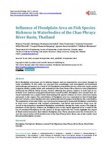 Influence of Floodplain Area on Fish Species Richness in Waterbodies ...