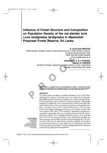 Influence of Forest Structure and Composition on Population Density