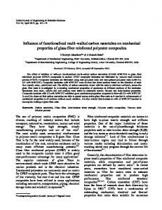 Influence of functionalized multi-walled carbon nanotubes on ... - NOPR