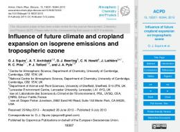 Influence of future climate and cropland expansion on isoprene ...