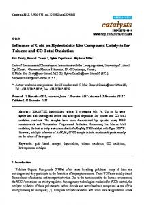 Influence of Gold on Hydrotalcite-like Compound Catalysts for ... - MDPI