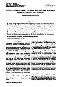 Influence of groundwater pumping on streamflow ... - Water Resources