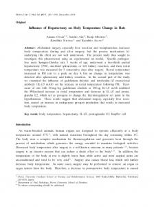 Influence of Hepatectomy on Body Temperature Change in ... - J-Stage
