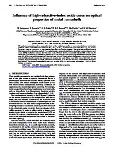 Influence of high-refractive-index oxide cores on ... - OSA Publishing