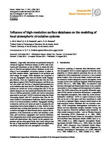 Influence of high-resolution surface databases ... - Geosci. Model Dev.