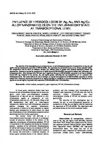INFLUENCE OF HYDROCOLLOIDS OF Ag, Au, AND Ag/Cu ALLOY ...