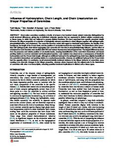 Influence of Hydroxylation, Chain Length, and Chain Unsaturation on ...