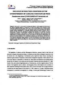 INFLUENCE OF INDUCTION CONDITIONS ON THE ...