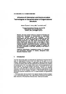 Influence of Information and Communication Technologies on ...