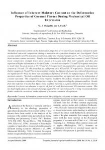 Influence of Inherent Moisture Content on the Deformation Properties ...