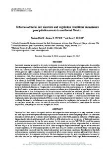 Influence of initial soil moisture and vegetation conditions on monsoon ...