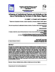 Influence of Institutional Factors and Attitude on the ...