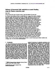 Influence of interannual tidal modulation on ... - Wiley Online Library