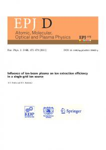 Influence of ion-beam plasma on ion extraction ...
