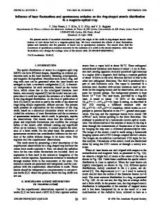 Influence of laser fluctuations and spontaneous emission on the ring ...