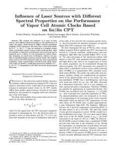 Influence of Laser Sources with Different Spectral Properties on the ...