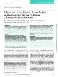 Influence of Leptin, Adiponectin, and Resistin on the ...