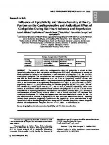 Influence of lipophilicity and stereochemistry at the C7