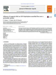Influence of magnetic field on CNT-Polyethylene