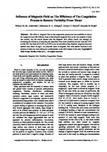 Influence of Magnetic Field on The Efficiency of The ...