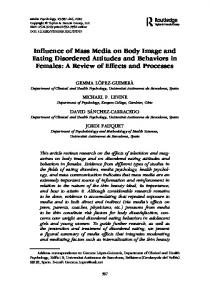 Influence of Mass Media on Body Image and Eating