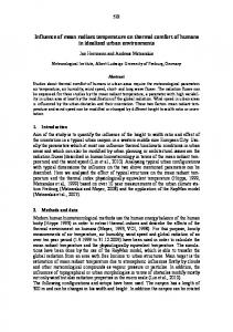 Influence of mean radiant temperature on thermal comfort of humans ...