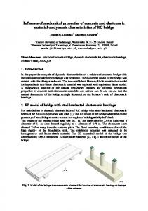 Influence of mechanical properties material on ...