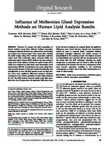 Influence of Meibomian Gland Expression ... - The Ocular Surface