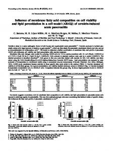 Influence of membrane fatty acid composition on cell ...