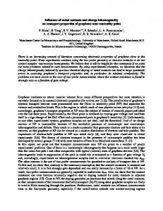 Influence of metal contacts and charge inhomogeneity on ... - arXiv