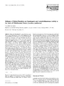 Influence of Methyl Parathion on Gametogenic and ...