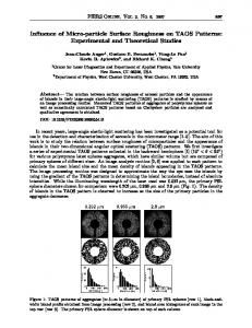 Influence of Micro-particle Surface Roughness on TAOS Patterns
