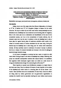 INFLUENCE OF MICROORGANISMS IN PRODUCTION OF ...