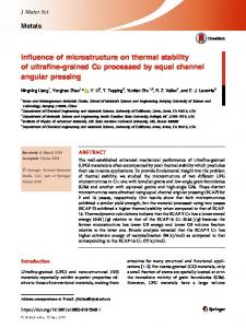 Influence of microstructure on thermal stability of
