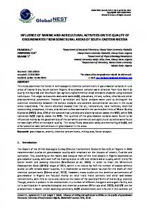 influence of mining and agricultural activities on the quality of ...