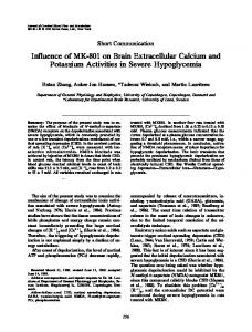 Influence of MK-801 on Brain Extracellular Calcium ... - SAGE Journals