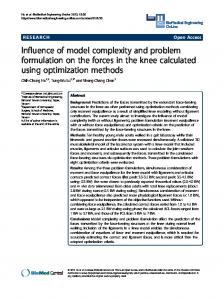 Influence of model complexity and problem ... - BioMedSearch