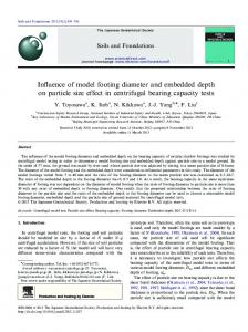 Influence of model footing diameter and embedded depth on ... - Core