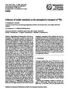Influence of model resolution on the atmospheric ... - Atmos. Chem. Phys