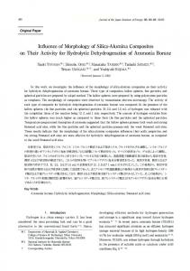 Influence of Morphology of Silica-Alumina Composites on ... - J-Stage