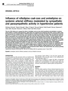 Influence of nifedipine coat-core and amlodipine on systemic ... - Nature